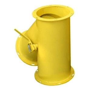 Клапан перекидной круглый ручной КПО