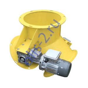 Клапан перекидной симметричный круглый с электроприводом КПС